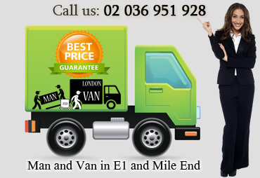 Recommendable and Reliable Man and Van in E1 and Mile End